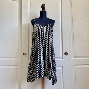 Madewell silk patterned slip dress